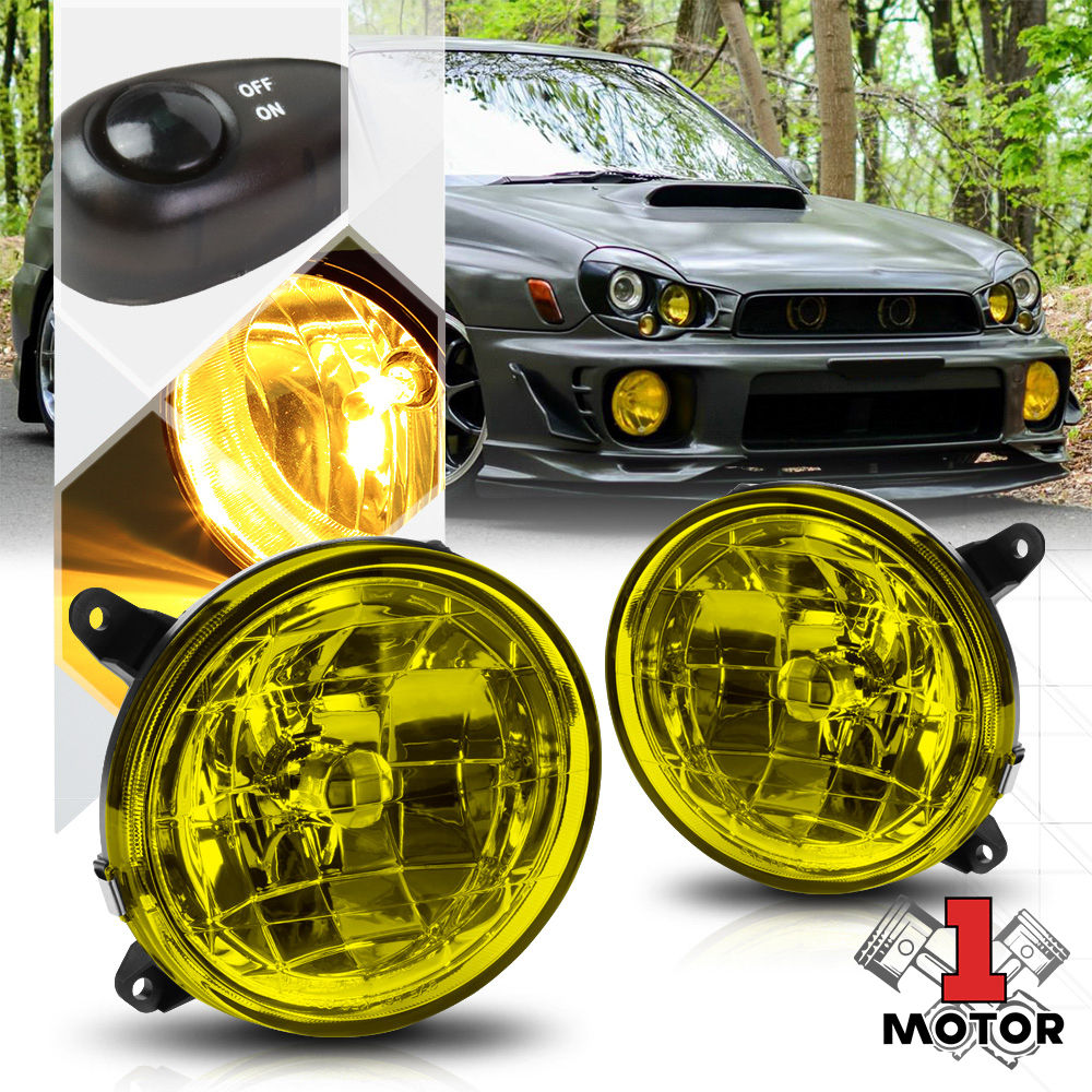 hight resolution of golden yellow fog light bumper lamps w switch harness for 02 03 subaru impreza walmart com