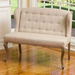 Living Room Settee Benches Bar Sets Emily Wingback Bench Walmart Com