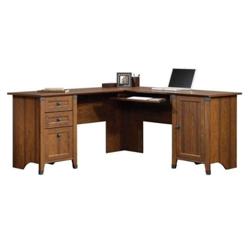 Sauder Carson Forge Corner Computer Desk  Cherry
