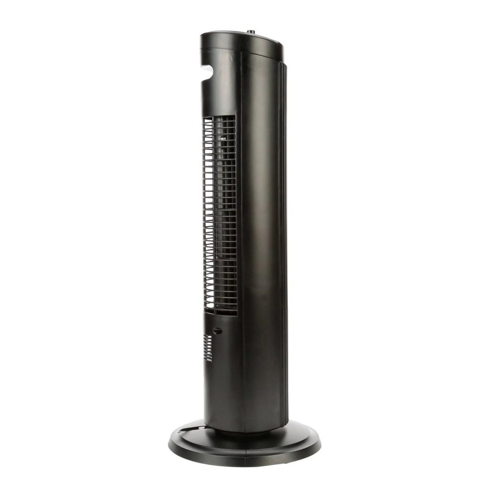 medium resolution of mainstays 27 oscillating tower 3 speed fan model fz10 10nb black