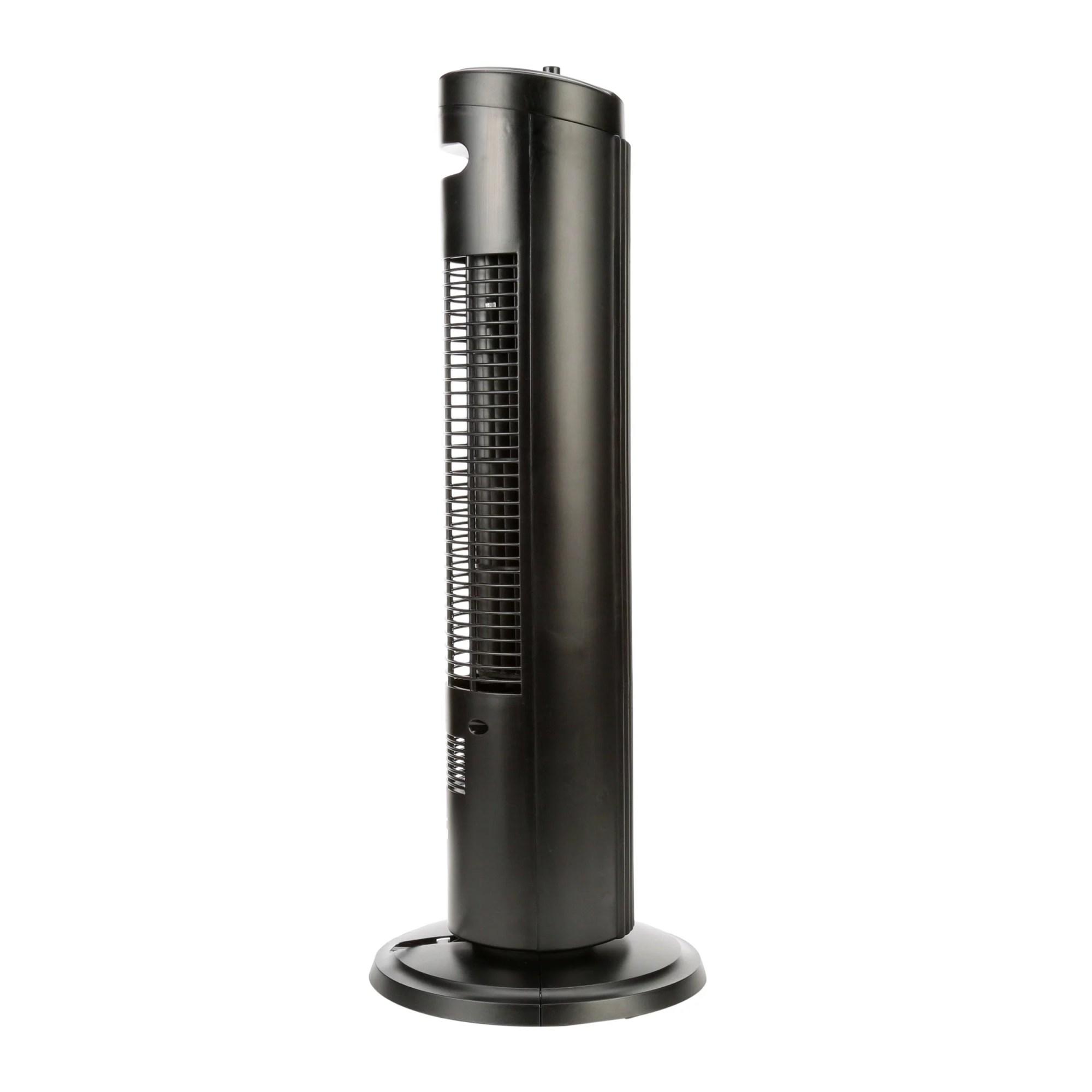hight resolution of mainstays 27 oscillating tower 3 speed fan model fz10 10nb black
