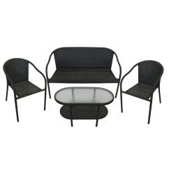 Black Resin Chairs Monoblock Chair Covers For Sale 4 Piece Wicker Patio Furniture Set Loveseat
