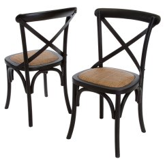 Black Cross Back Dining Chairs Zero Gravity Patio Chair With Canopy Smith 2 Pack Walmart Com