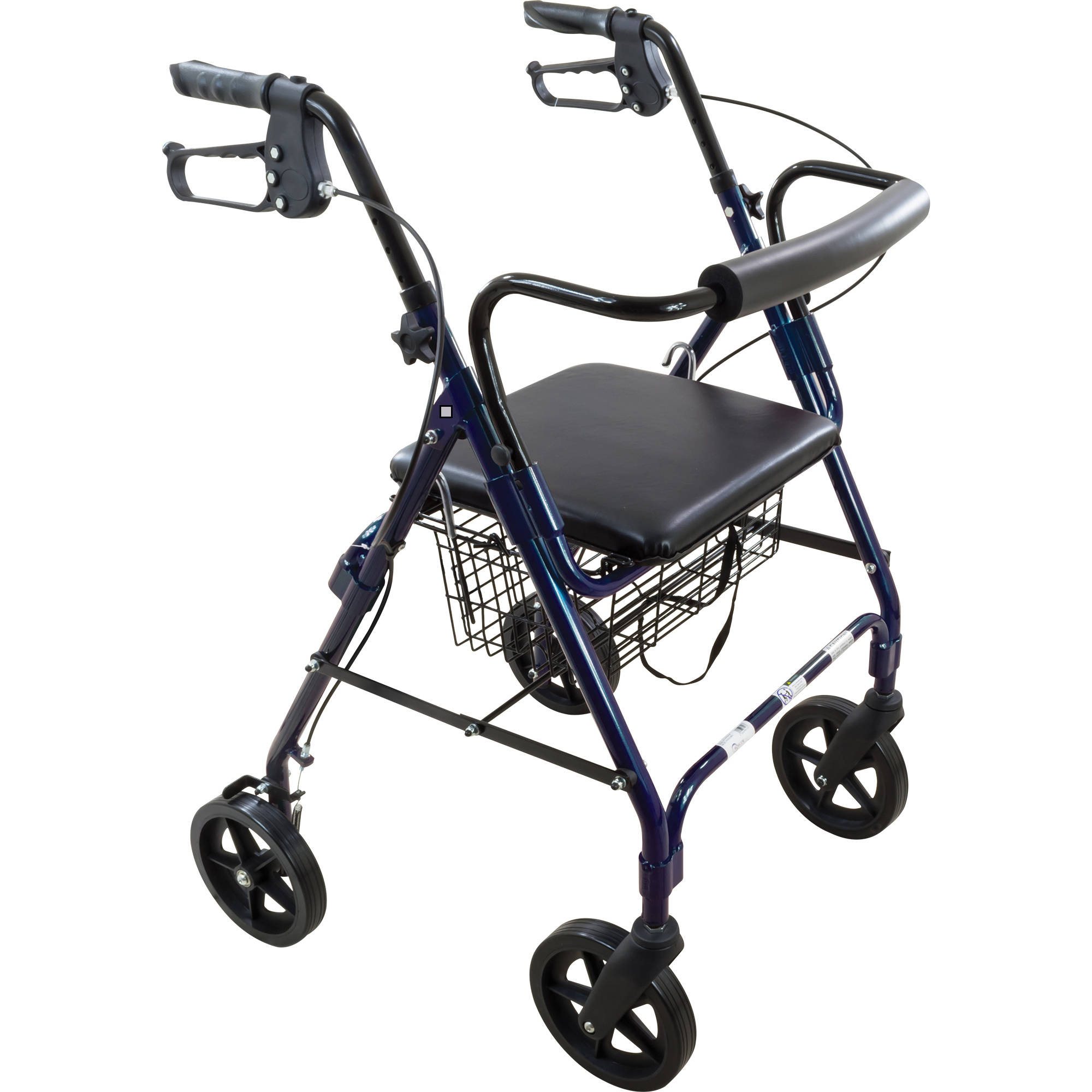 "Roscoe Deluxe 8"" Wheel Rollator / Rolling Walker with"
