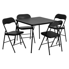 Walmart Tables And Chairs Dining Room Sets Flash Furniture 5 Piece Black Folding Card Table Chair Set Com