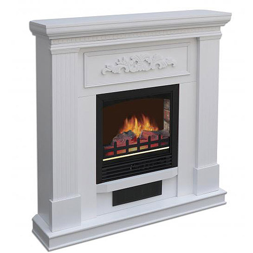 Decor Flame Fireplace, White