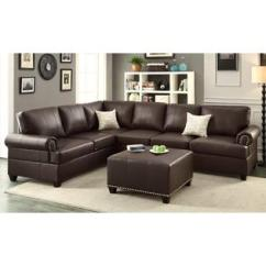 Barletta Sofa 84 Patio Cover 2 Pieces Sectional With Ottoman Upholstered In Bonded Leather