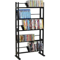 Atlantic Multimedia Storage Rack, Wood/Metal - Walmart.com