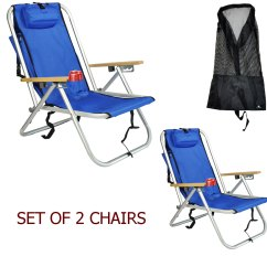 Walmart Chairs Camping Diy Outside Chair Cushions Deluxe Aluminum Rio Backpack Beach W Storage Pouch Tall Mesh Drawstring Bag Set Of 2 Com