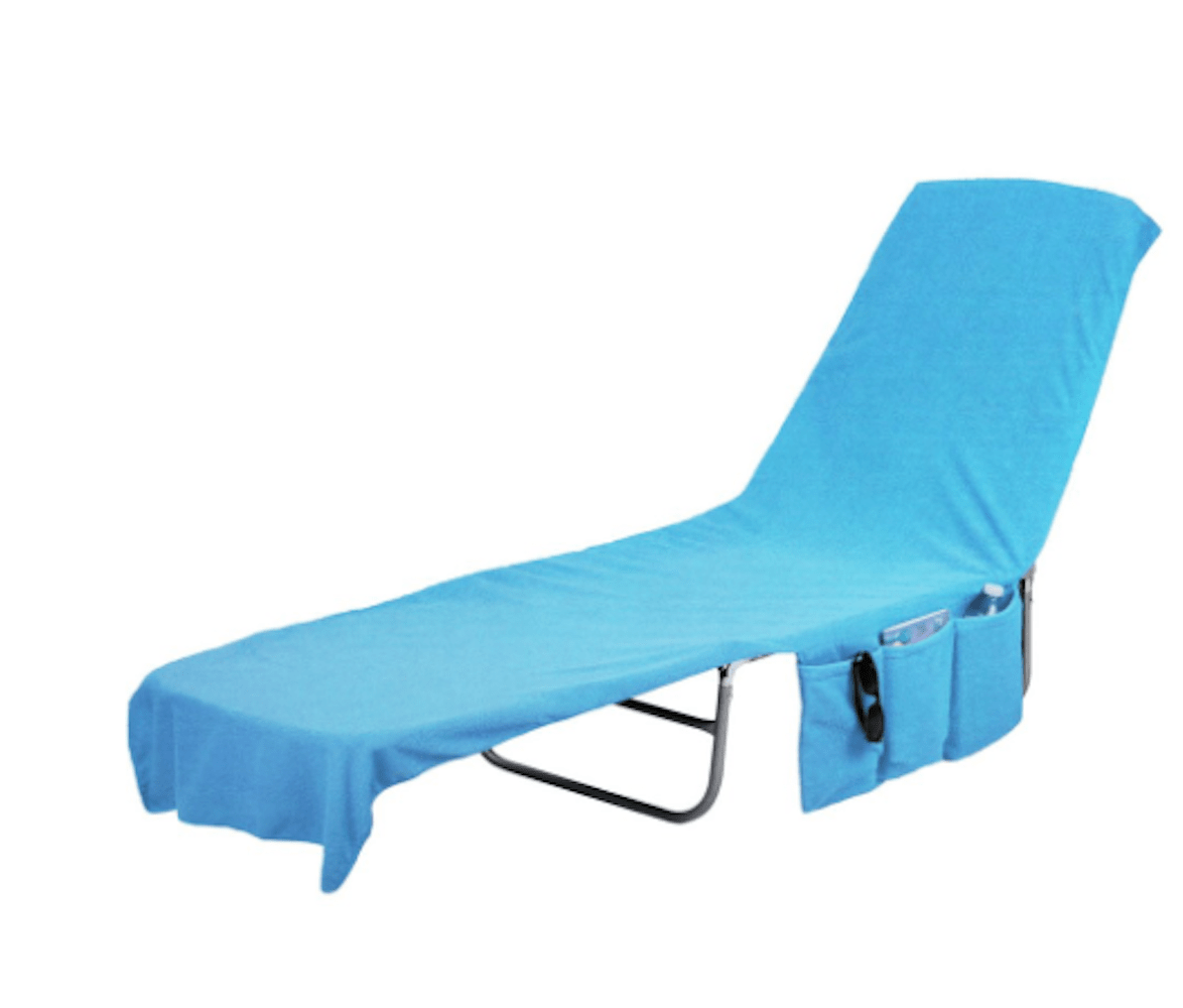 beach towels with pocket for lounge chair yoga workout cover towel tote bag blue walmart com