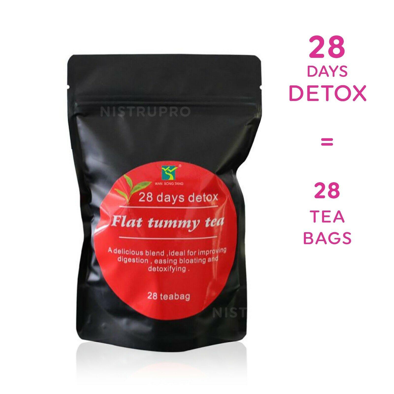 28 Day - FLAT TUMMY TEA Herbal Slim Detox Weight Loss ...