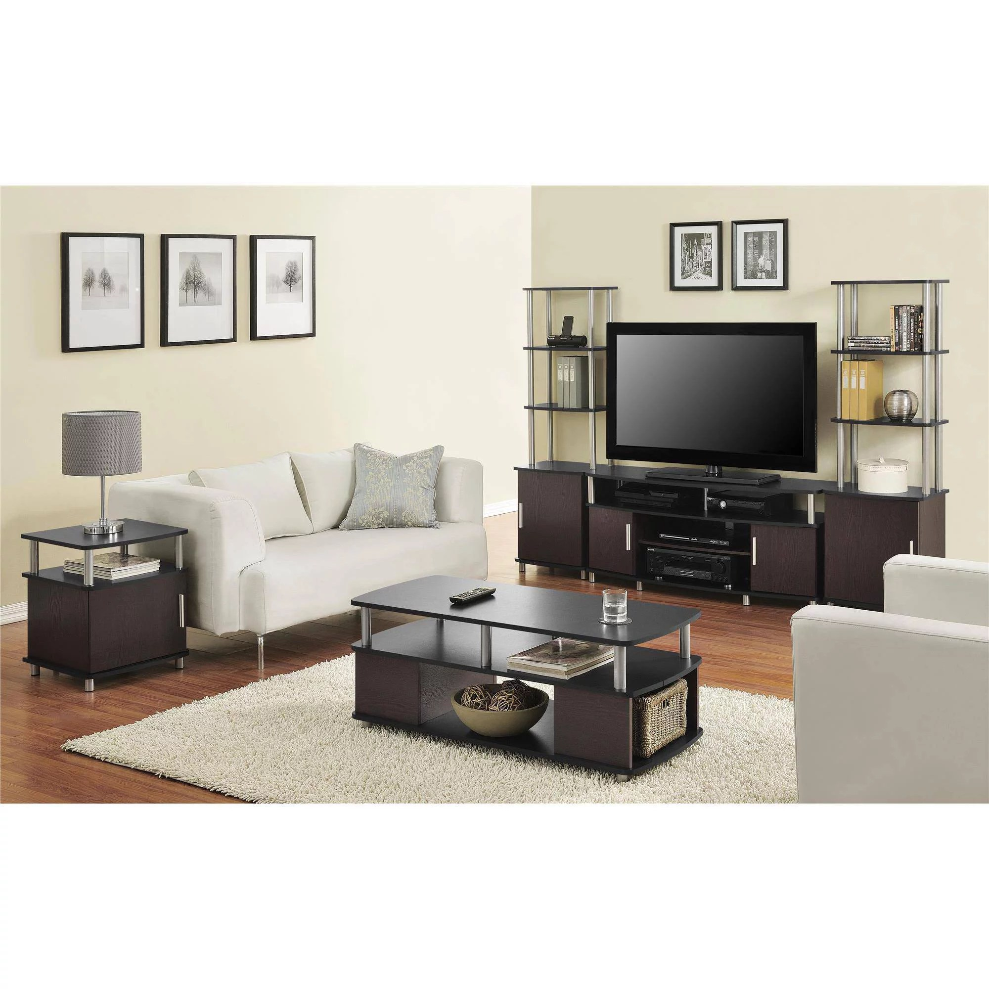 tv stands for living room grey accent wall in carson stand tvs up to 50 multiple finishes walmart com