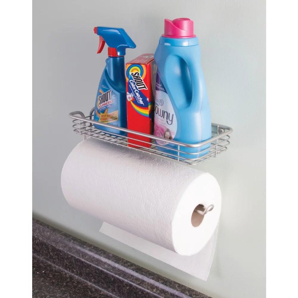 InterDesign Classico Wall Mount Paper Towel Holder w/Shelf