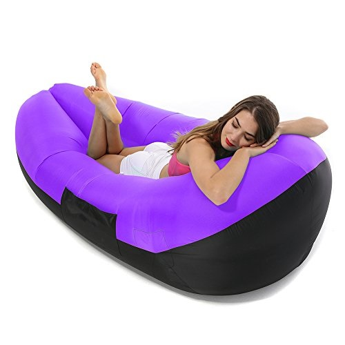 air bag chair target threshold stack sling gray inflatable lounger lounge sofa sleeping couch