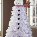 Holiday Time Pre Lit 6 5 Ft Snowman Christmas Tree Walmart Com Walmart Com