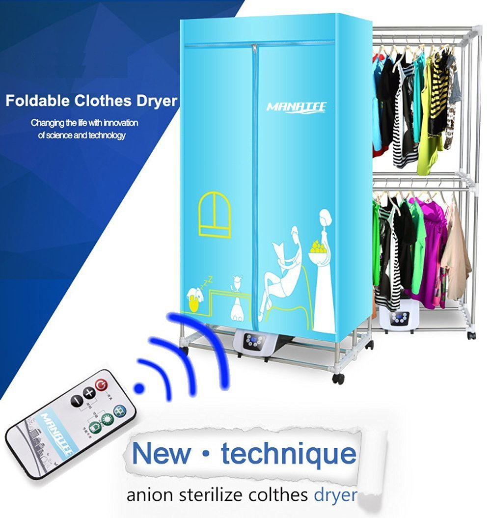 manatee portable clothes dryer 1200w electric laundry drying rack 33 lb capacity best energy saving anion walmart com