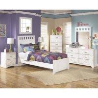 Ashley Lulu 6 Piece Wood Twin Panel Bedroom Set in White ...