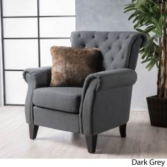High Back Tufted Chair Lazy Boy Office Replacement Parts Christopher Knight Home Merritt Fabric Club By Walmart Com