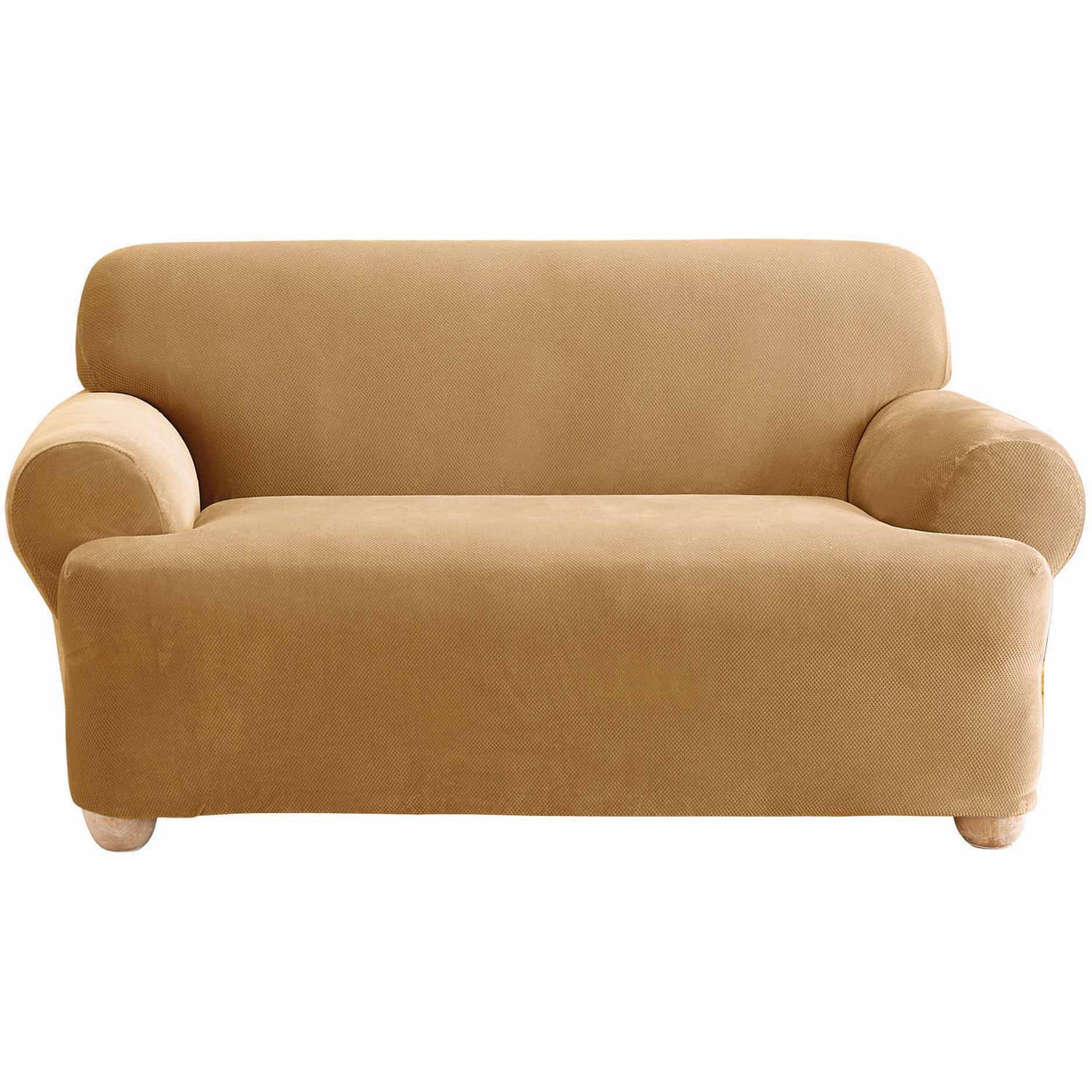 sure fit stretch pique 3 piece t cushion sofa slipcover microfiber sectional with chaise lounge maya