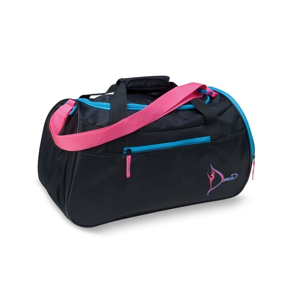 Sassi Design Black Pink Embroidered Dance Square Duffle