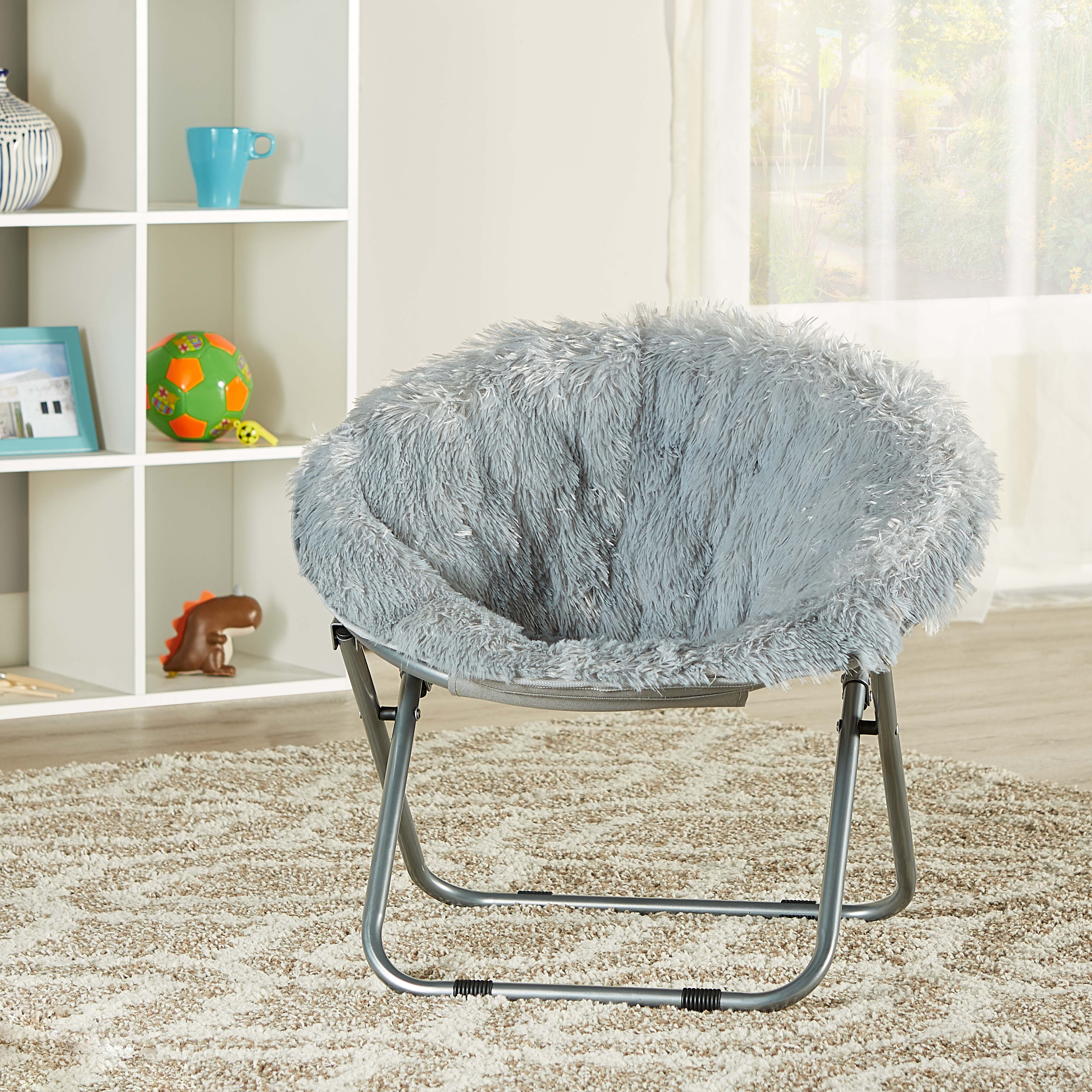 toddler saucer chair canada moms baby mainstays kids blair plush faux fur multiple