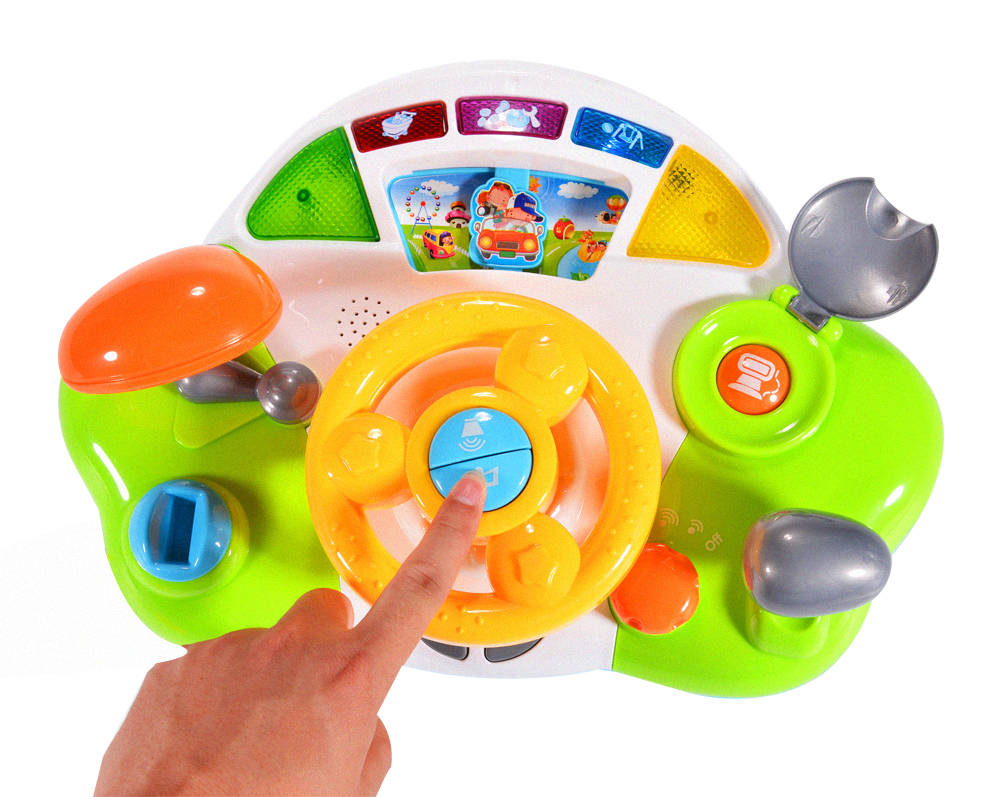 Driving Steering Wheel Toys For Toddlers With Music And