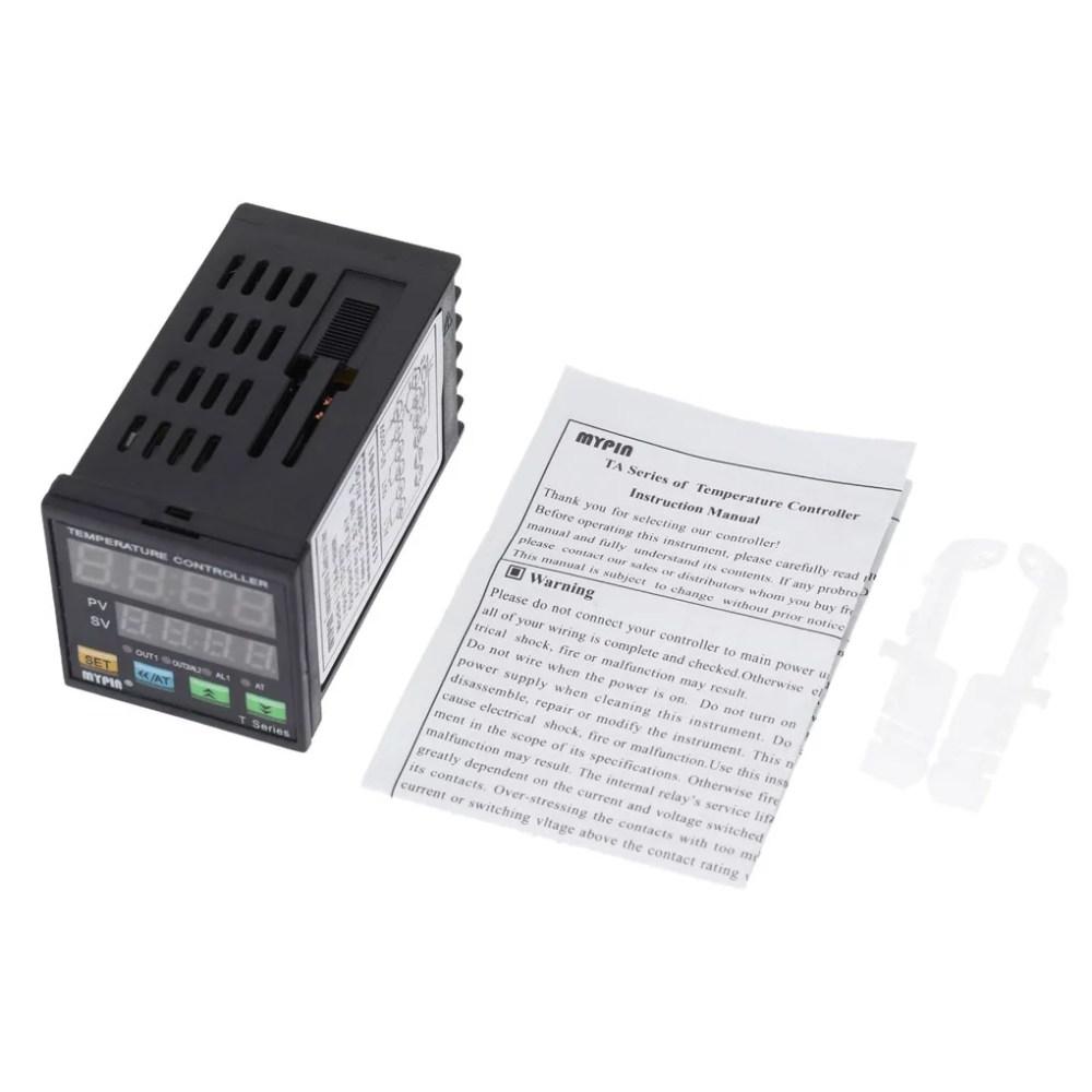 medium resolution of mypin ta4 rnr digital led pid temperature controller thermometer heat cooling control rnr 1 alarm relay output tc rtd thermostat walmart com