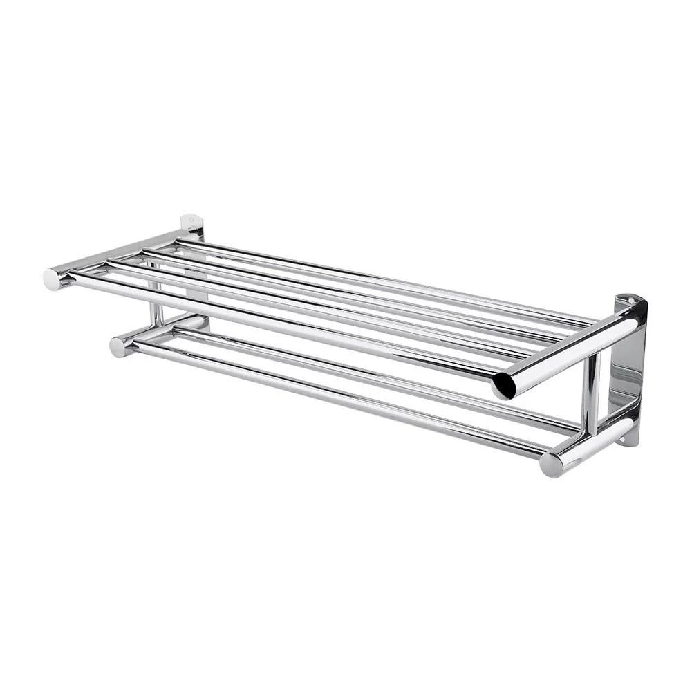 estink stainless steel bath towel rack bathroom shelf with double towel bar