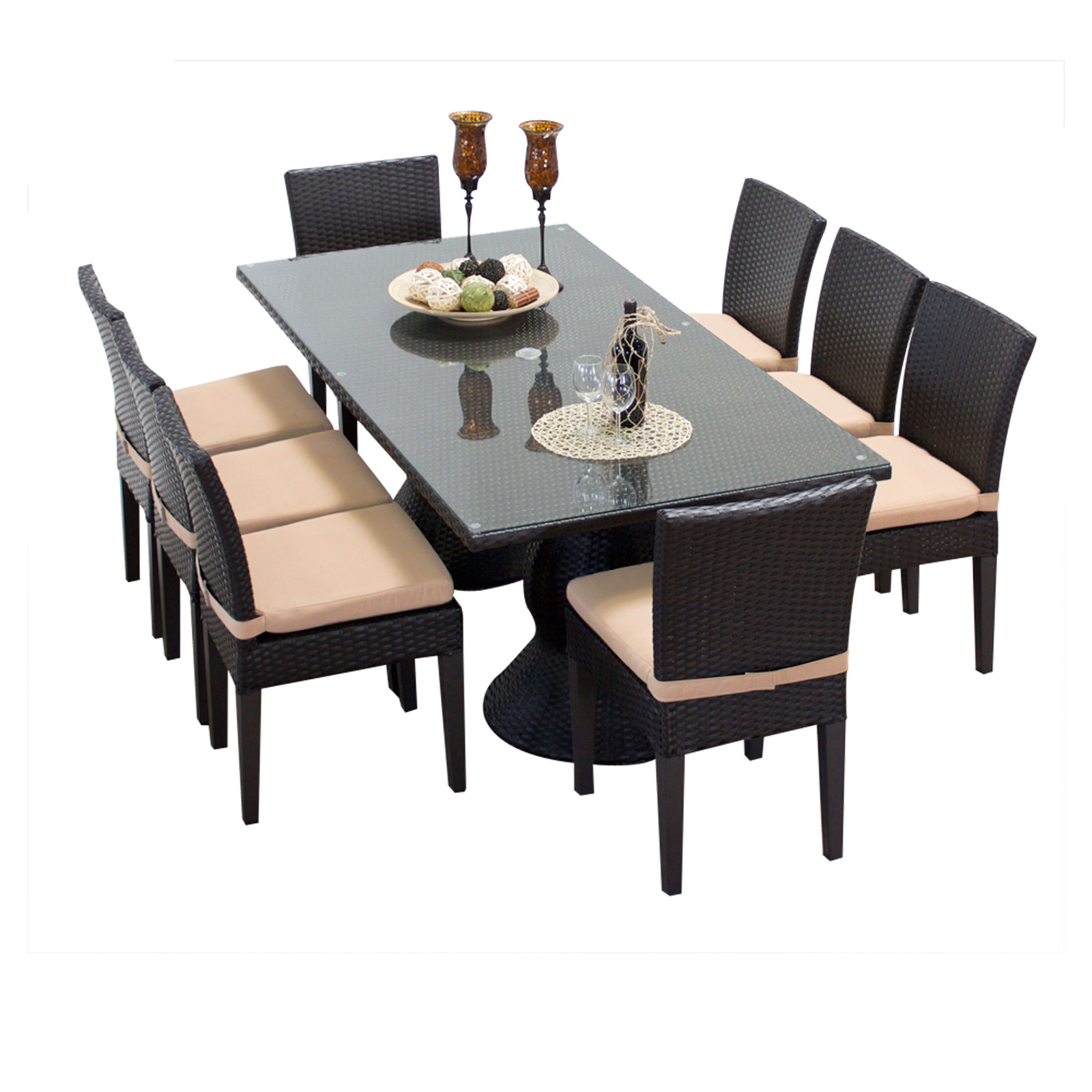 Dining Table 8 Chairs Saturn Rectangular Outdoor Patio Dining Table With 8 Chairs