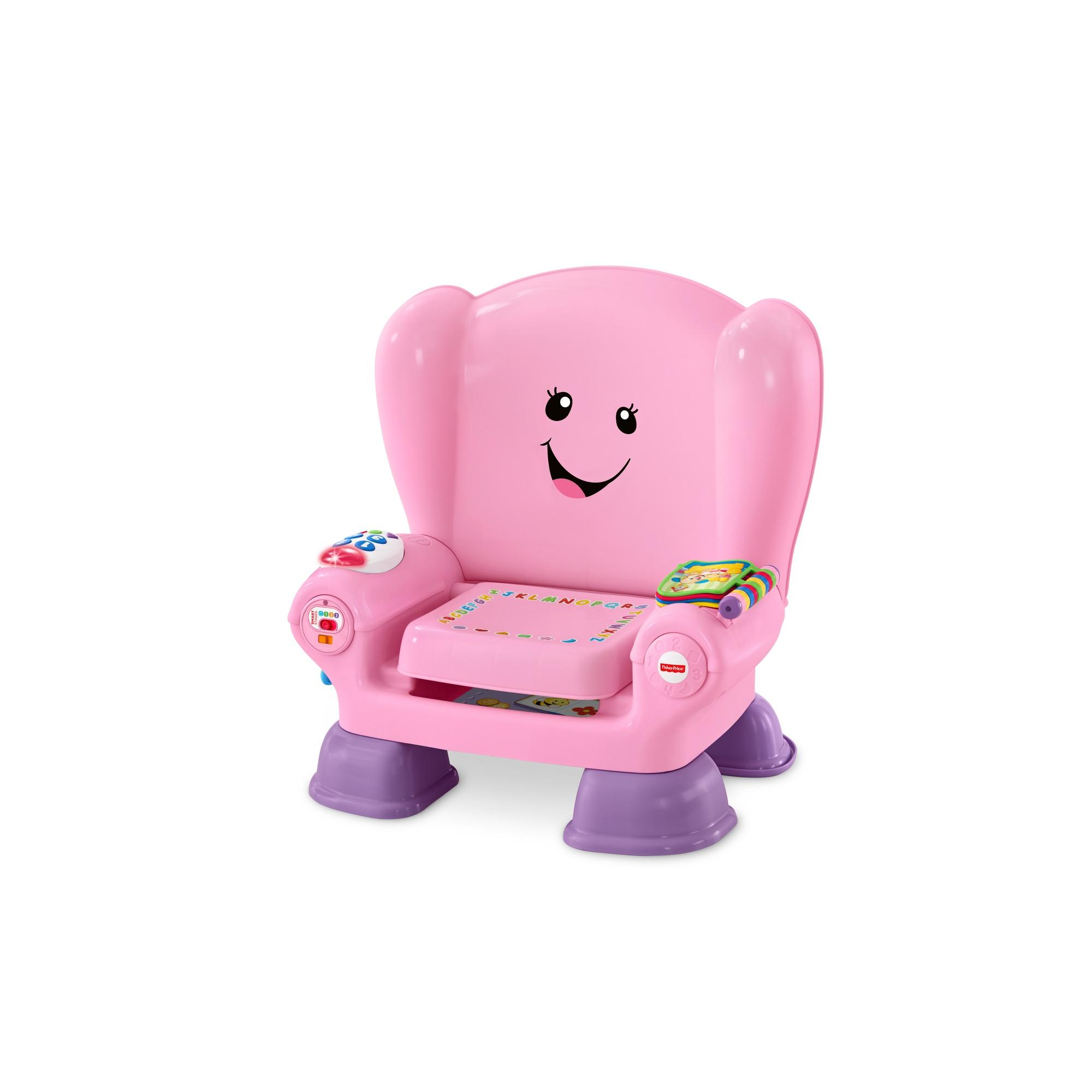 fisher price chair pink big and tall leather desk chairs laugh learn smart stages