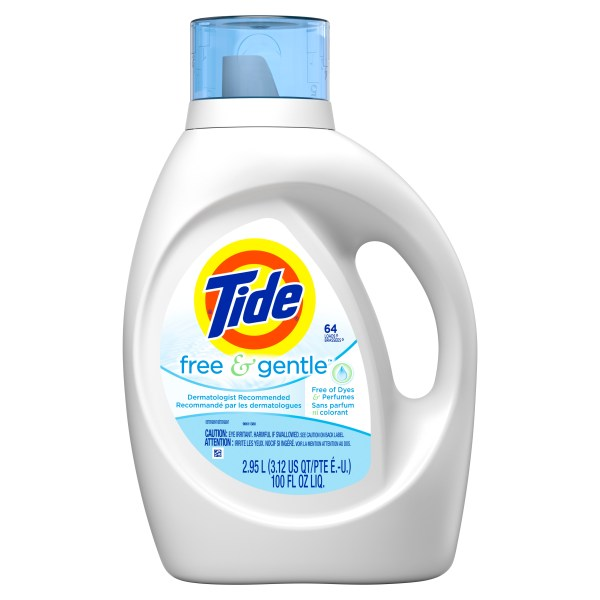 Tide Free Gentle Liquid Laundry Detergent 100 Fl Oz 64