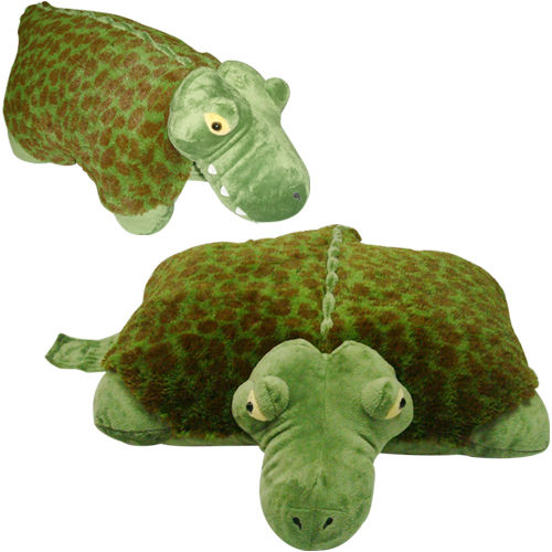 plush plush brand large alligator pet pillow 18 inches my friendly alli green toy cushion