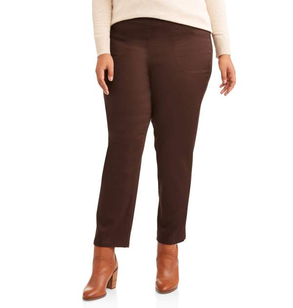 Size - Women' -size 2-pocket Pull- Stretch Woven Pants In Regular And