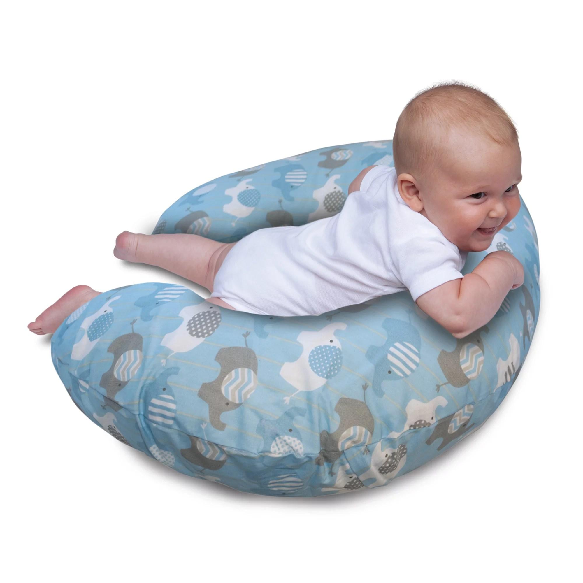original boppy pillow slipcover classic elephants blue