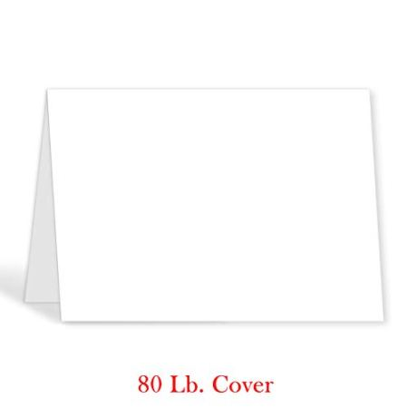 Greeting Cards 5x7 Inches Heavyweight Blank White Card Paper Half Fold Design Perfect For Birthday Invitations Wedding Holiday Notes