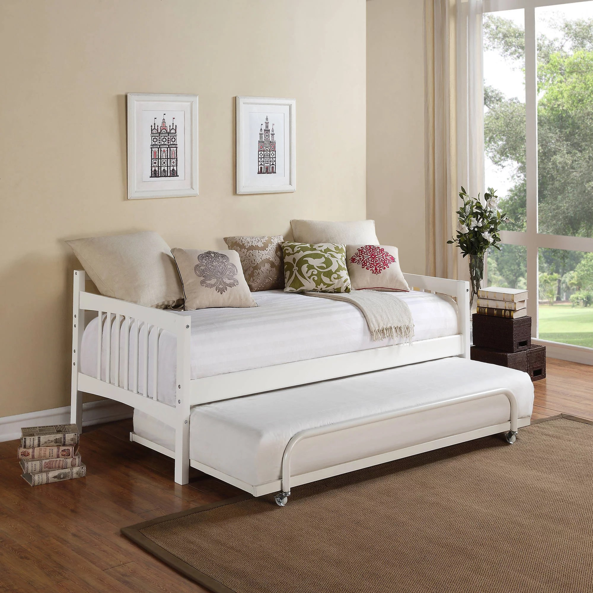 Modern daybed with pop up trundle - Better Homes And Gardens Grayson Linen Daybed And Trundle Walmart Com