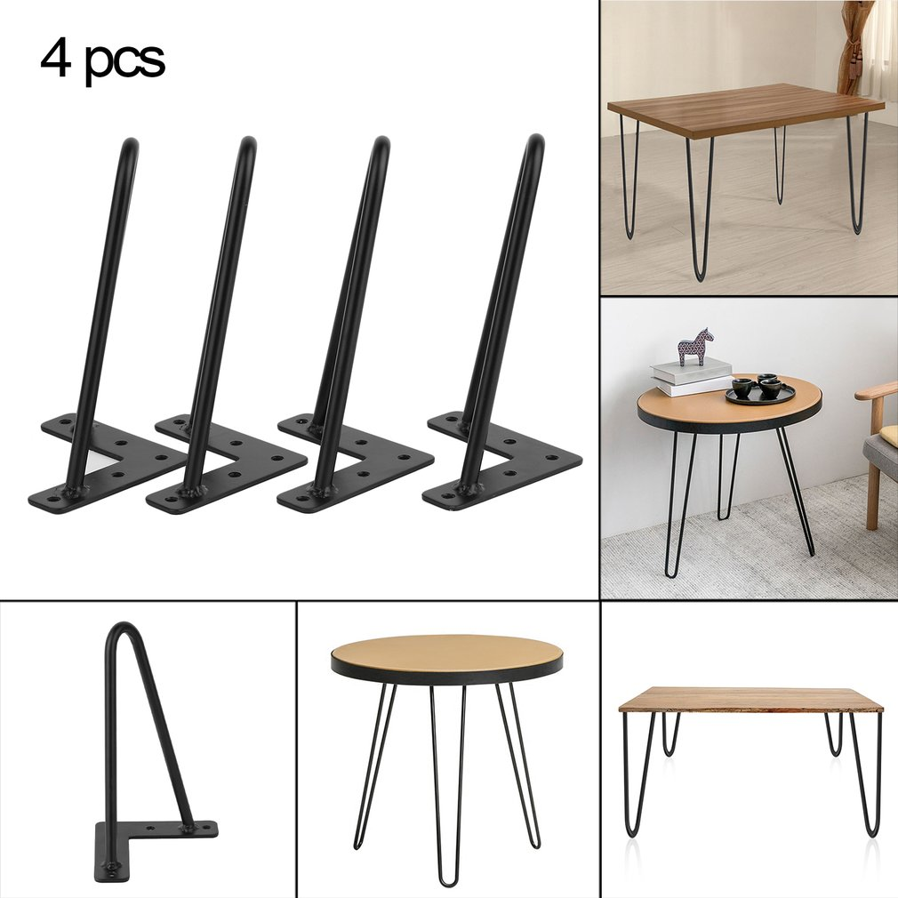 Heavy Duty Hairpin Table Legs Set of 4 Dining Table Laptop