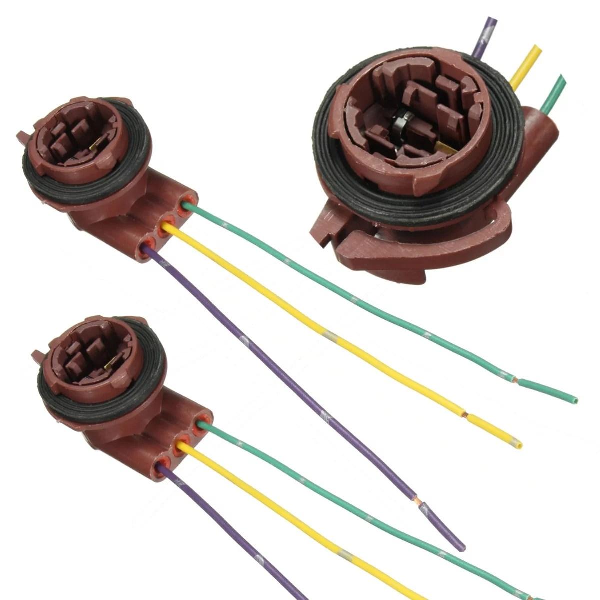 medium resolution of matcc 2pcs 12v brake turn signal indicator light socket wiring electrical wiring handyman 3157 light socket wiring diagram
