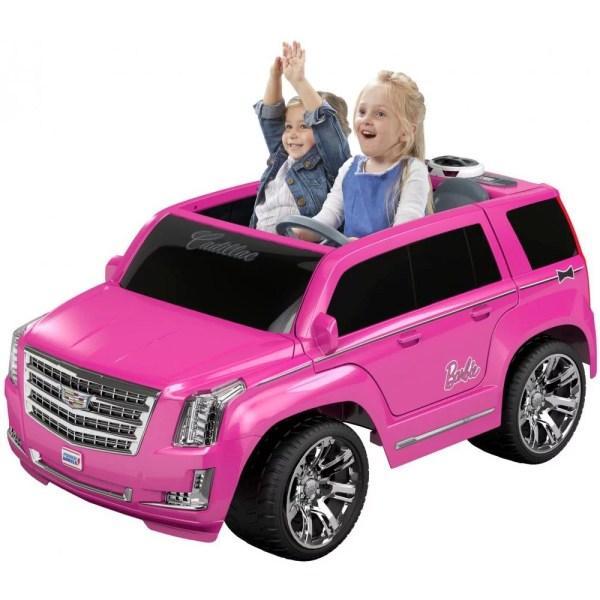 Power Wheels Barbie Cadillac Escalade Ride- Vehicle Pink