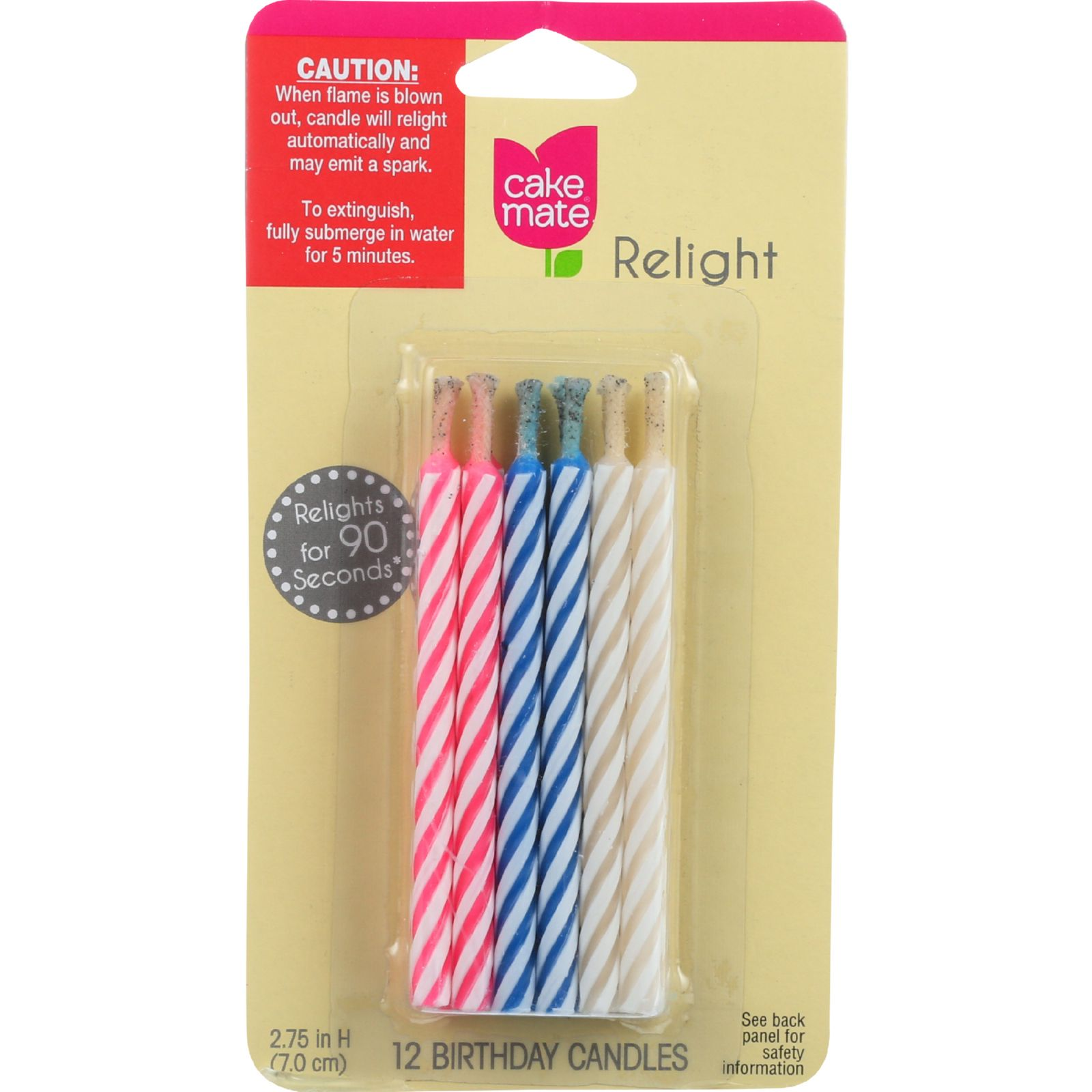 Signature Brands Cake Mate Birthday Candles 12 ea