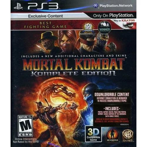 Mortal Kombat Komplete Edition Warner Playstation 3
