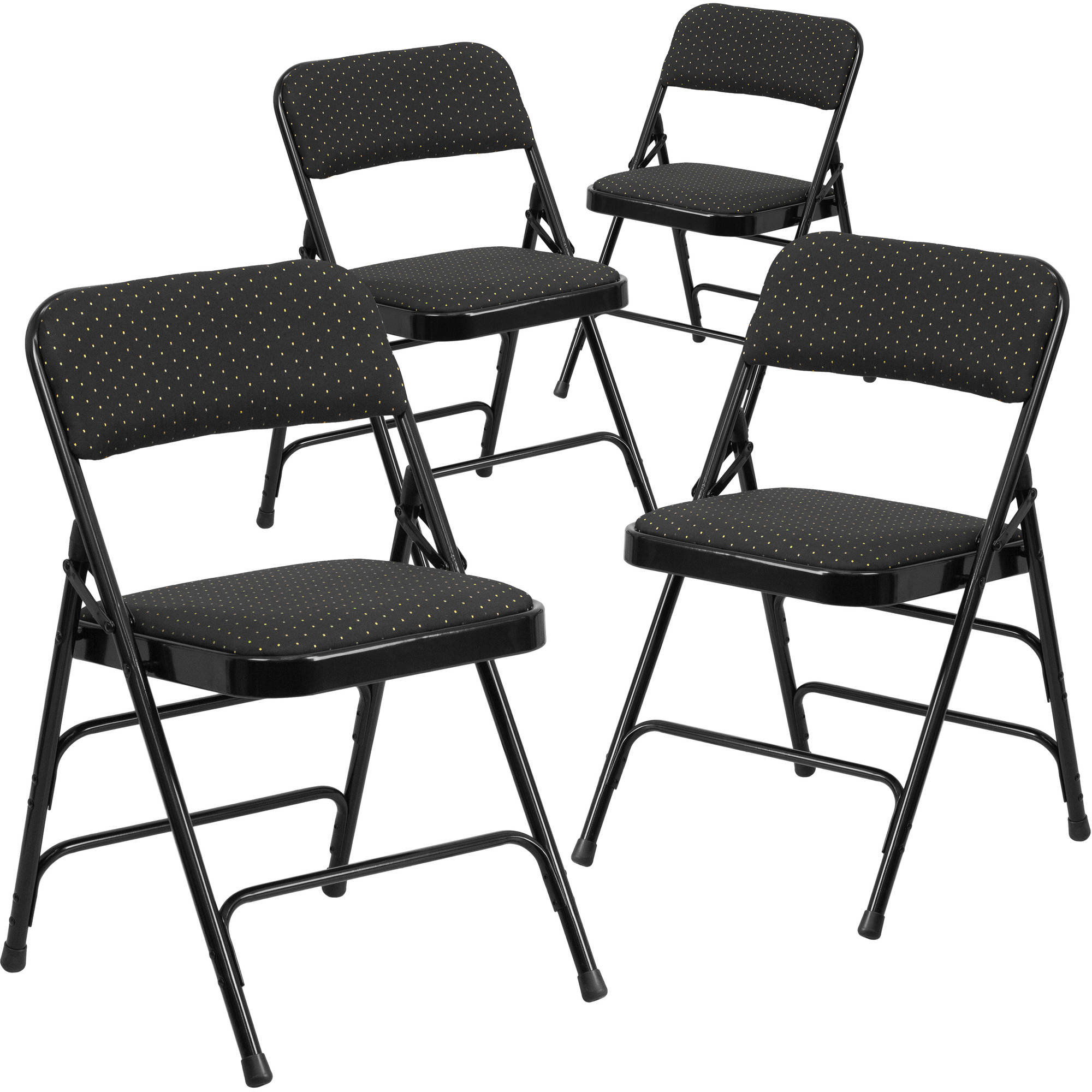 Fabric Folding Chairs Flash Furniture 4 Pack Hercules Series Curved Triple