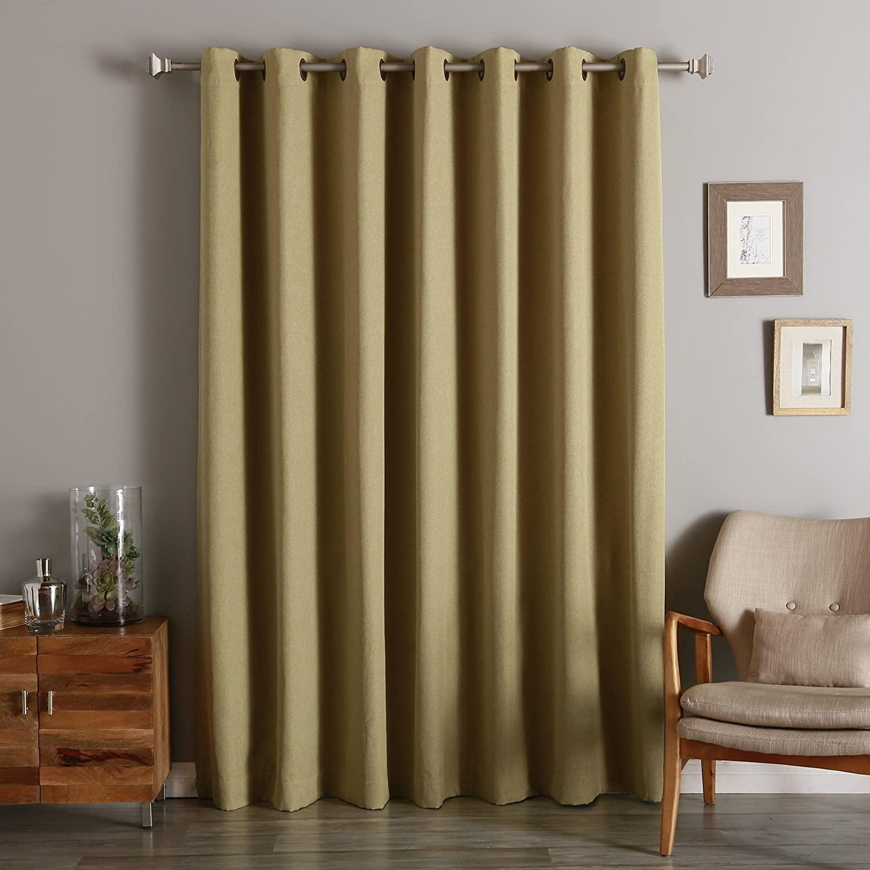 quality home linen look room darkening 1 panel curtain 100 width 96 length walmart com