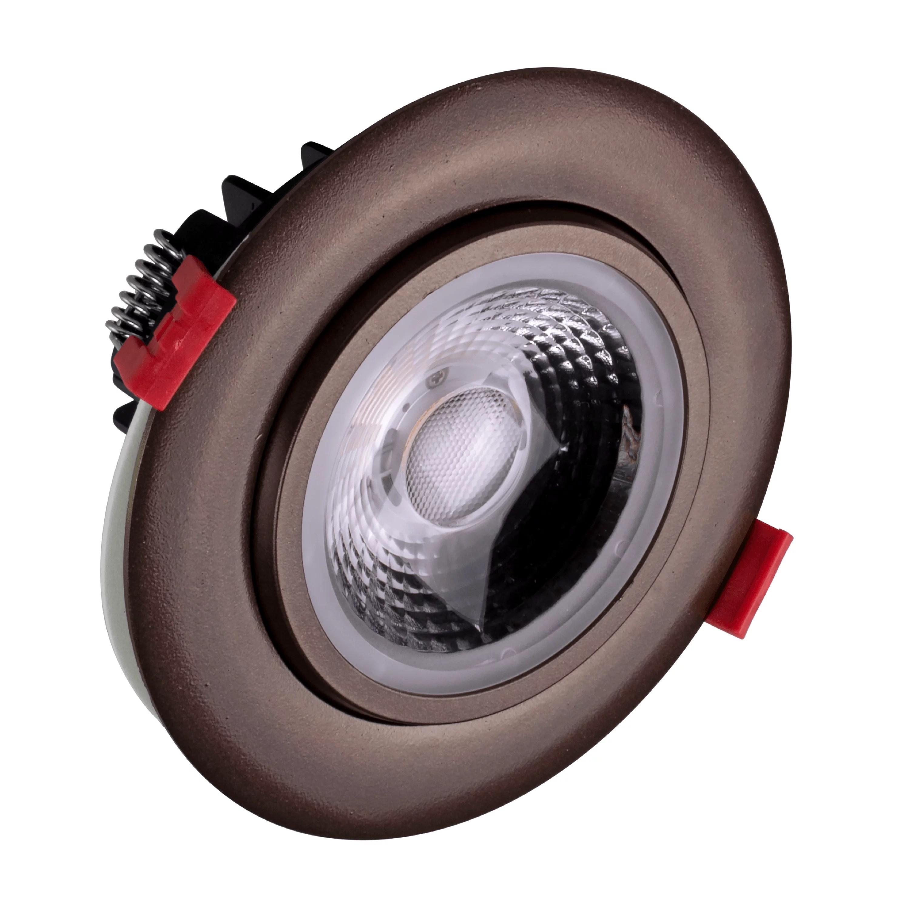 nicor lighting 4 inch led gimbal recessed downlight in oil rubbed bronze 5000k dgd411205krdob