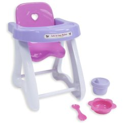 High Chair With Accessories Unique Chairs For Bedrooms Jc Toys Keeps And Dolls Up To 11 Walmart Com