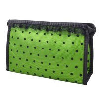 Black Lace Dotted Lipstick Brushes Holder Green Cosmetic