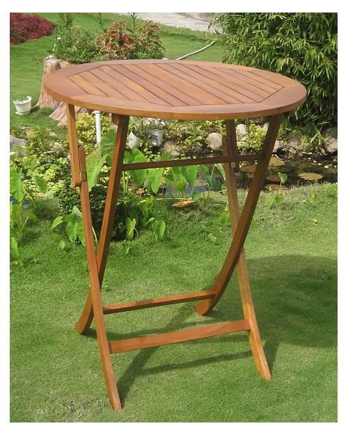 balau wood 36 in round folding patio table