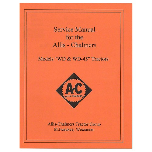 small resolution of rep092 new tractor service manual for allis chalmers wd wd45 walmart com