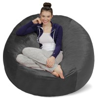 Sofa Sack Memory Foam Bean Bag Chair - 5 ft - Walmart.com
