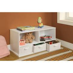 Storage Solutions For Toys In Living Room Media Chests Badger Basket Shelf Cubby With 3 Baskets Multiple Colors Walmart Com